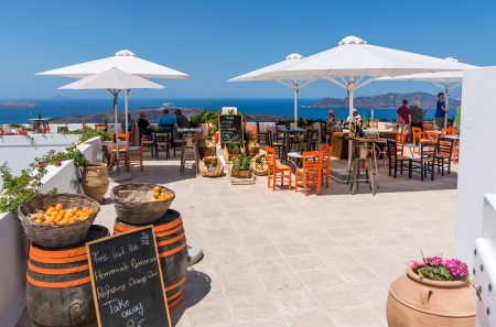 ギリシャ サントリーニ島 レストラン