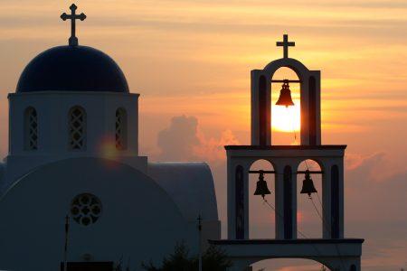 ギリシャ イア 夕日