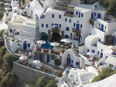 サントリーニ島でのホテル