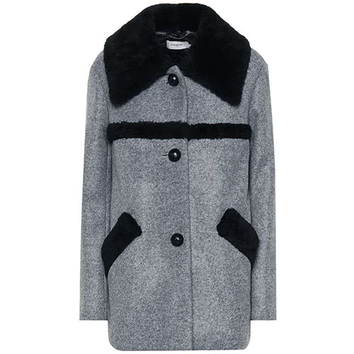 Shearling-trimmed coat