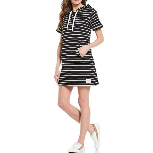Calvin Klein Performance  surfside striped hoodie dress