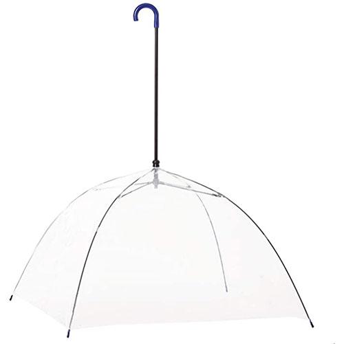 開いた状態のお風呂deサウナ傘