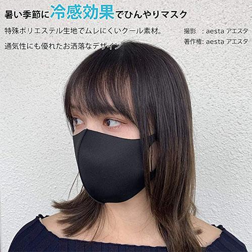 aesta (アエスタ) マスク 冷感 5枚セット
