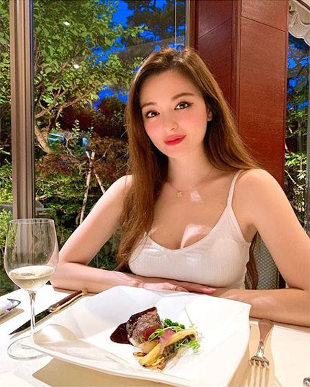 レストランでのAmiさん